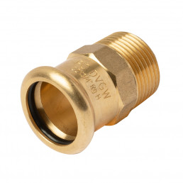 GMCP51-Copper Press Fit to Male Threaded Adapter