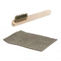 Scouring Pad & Wire Brush